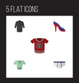 flat icon garment set of uniform underclothes vector image vector image