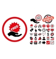 Free Offer Flat Icon with Bonus vector image vector image