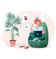 freelance home work flat vector image