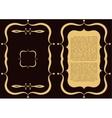 Golden frame with logo in A4 format for restaurant vector image vector image