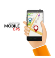GPS phone navigation - mobile gps and tracking vector image vector image