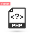 grey php file document icon download php button vector image vector image