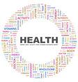 HEALTH vector image vector image