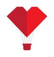 heart shaped air balloon vector image