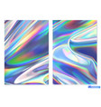 holographic film abstract background vector image