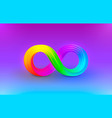 infinity color icon sign element graphic vector image
