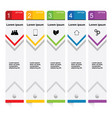 infographic set in color art vector image vector image