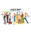 international labor day people group vector image vector image
