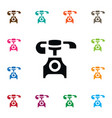 isolated vintage icon old phone element vector image