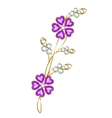 Jewelry flower branch vector image vector image