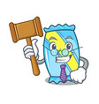 judge candy mascot cartoon style vector image