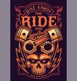 just enjoy ride biker art vector image vector image