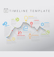 light infographic timeline with graph vector image vector image
