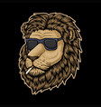 lion head smoke vector image vector image