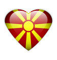 Macedonia flag button vector image