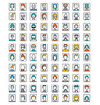 mega set of avatars flat style design vector image
