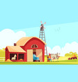 milk farm outdoor composition vector image vector image