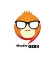 monkey geek logo vector image