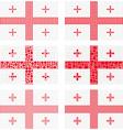 Mosaic Georgia flag set vector image vector image