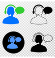 operator message eps icon with contour vector image vector image