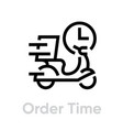 order time delivery bike icon editable line vector image vector image