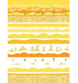 parallax ready layers desert sand landscape vector image