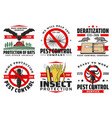 pest control service isolated icons set vector image