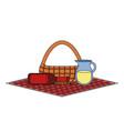 picnic basket design vector image vector image