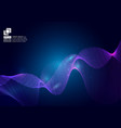 purple color waves particle on blue background vector image vector image