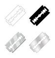 razor blade set design isolated on white vector image