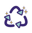 recycle symbol to ecology planet care vector image vector image