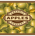 Retro Apple Harvest Label vector image vector image