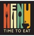 Retro restaurant menu card