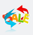 sale title with arrows vector image