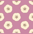 seamless pattern with ripe quince in cross section vector image vector image