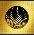 set abstract halftone 3d spheres 39 vector image vector image