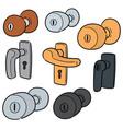 set of door knob vector image