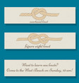 set of flyer templates with sea knots theme vector image vector image