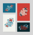 set postcards with inscription happy mother s vector image
