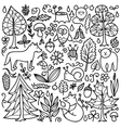 Set with Forest elements vector image