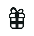 simple black icon gift on white background vector image vector image