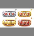 slot machine set 777 big win banner vector image