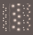 soft shining light garlands collection vector image vector image