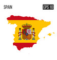 spain map border with flag eps10 vector image