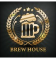 Stylized mug of beer wreath vector image vector image