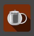 tea glass pot concept background cartoon style vector image vector image