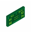Tennis scoreboard icon isometric 3d style vector image vector image