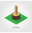 Timber isometric vector image