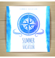 Watercolor summer typography design vector image vector image