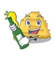 with beer hay bale mascot cartoon vector image